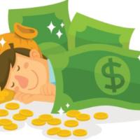Slapend rijk worden